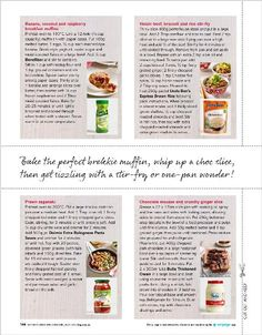 Weekday meals: Pick up a few ready-made ingredients and try these easy recipes - clipped from page 144 of Better Homes and Gardens, Jul 2014 issue by the Netpage app. Easy Recipes, Easy Meals, Weekday Meals, Better Homes And Gardens, Beets, Raspberry, Quilting, Banana, Cakes