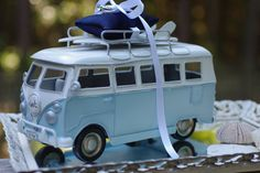 Beach Wedding VW Bus with Surfboards Ring by ByTheSeashoreDecor