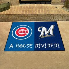 No one ever said your household had to cheer for only one team. Keep this Chicago Cubs - St. Louis Cardinals MLB House Divided Mat by Fanmats in your home to let your loved ones and guest know your team is not to be reckoned with! Philadelphia Eagles Football, Nfl Football, Mlb, Cubs Cardinals, St Louis Cardinals, Nylon Carpet, House Divided, Nfl Packers, National League