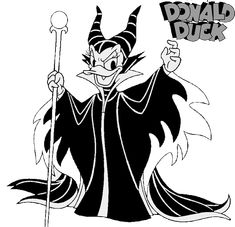 Daisy Duck as Maleficent disney halloween coloring pages printable and coloring book to print for free. Find more coloring pages online for kids and adults of Daisy Duck as Maleficent disney halloween coloring pages to print. Disney Coloring Sheets, Free Disney Coloring Pages, Preschool Coloring Pages, Fairy Coloring Pages, Cartoon Coloring Pages, Coloring Pages For Kids, Coloring Books, Colouring, Kids Coloring