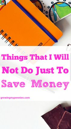 We all love to save money, but it's smart to set some boundaries for yourself. Be able to recognize what you will and will not do to save money.