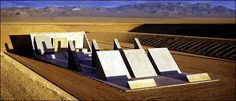 """45º, 90º, 180º/City,"" 1980-1999. The pieces of Michael Heizer's sculpture could be combined to make a wedge."