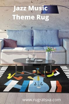 Enhance the décor of your living room with this amazing Jazz Music theme rug. Perfect for connoisseurs of jazz music, the rug is perfect to showcase your love for this genre. #jazzday #jazzmusic#jazz #jazzband #nationaljazzday
