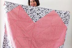 Tea Towel Furoshiki – An Eco Friendly way to Gift Wrap for Christmas - Decor Tips 2019 Tunisian Crochet, Diy Crochet, Crochet Shawl, Shawl Patterns, Crochet Patterns, Rag Rug Diy, Braided T Shirts, Furoshiki, Yarn Dolls