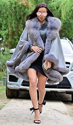 Новый кашемировый мехом чернобурки пончо класса соболя норки шиншиллы пальто куртка плащ