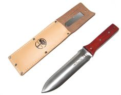 Hori Hori Knife With Leather Sheath By Oakridge Gardens - All Purpose Knife- Lifetime Guarantee