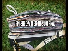 Finished WRECK THIS JOURNAL flip through || music version - YouTube