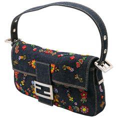 Vintage and Designer Shoulder Bags - For Sale at Vintage Purses, Vintage Bags, Vintage Handbags, Denim Handbags, Purses And Handbags, Duffle Bag Travel, Duffle Bags, Messenger Bags, Travel Bags