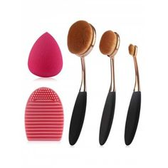 Share and Get It FREE Now | Join Gearbest |   Get YOUR FREE GB Points and Enjoy over 100,000 Top Products,3 Pcs Oval Toothbrush Makeup Brushes Set + Teardrop Makeup Sponge + Brush Egg