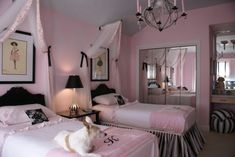 Pink & Black Girl Room ... vintage Barbie inspired