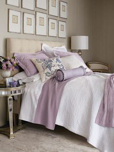 lovely lavender: i'm loving the framed prints above the bed!