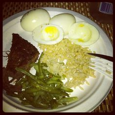 High Protein Meal clean meal to help feed your muscles =)