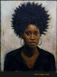"Tim Okamura (timokamura.com) - ""Portrait of Shanda"", oil on canvas, 2003."