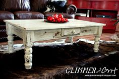 Glimmer And Grit: Shabby Chic Coffee Table Update