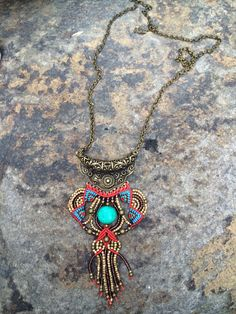 Micro macrame necklace summer collection