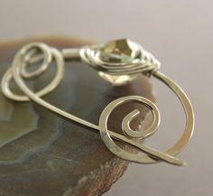 Handmade German silver shawl pin or scarf pin by IngoDesign