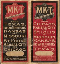 Missouri, Kansas & Texas Railway timetable -1897 Cover