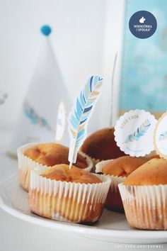 Party Birthday Cupcake Flags by Wiewiorka i Spolka