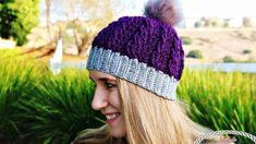 This free crochet pattern is called the Ribbed Cable Textured Beanie that features the perfect ribbed brim and some very pretty, but different cable stitches to provide lots of elegance. Add or pom-pom or leave it off and it will look great. Crochet Cable, Crochet Yarn, Free Crochet, Crochet Dolls, Knitting Patterns, Crochet Patterns, Doll Patterns, Crochet Beanie Pattern, Beanie Pattern Free
