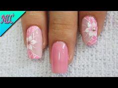 FLORES EN UAS 3D PASO A PASO/Cotton Candy Nail Art Design/primera parte | Azalea Nails Journal