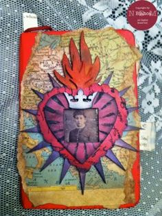 finished shrine on the cover of Bianca's journal