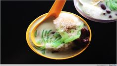 Ice Cool Cendol Cendol is one of the most popular Asian desserts.  This Indian dessert is made up of green–coloured and pandan flavoured rice dough strips which are served in cold uncooked coconut milk and shredded ice.
