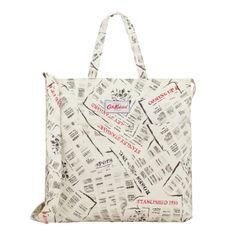 Just In | CK Newsprint Double Handle Cotton Bag | CathKidston