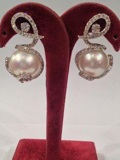 Pearls & Diamonds Earrings
