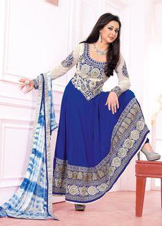 Stunning #Preeti #Jhangiani in Designer #Partywear and #Wedding Georgette #Anarkali Style #Suit. #DesignerSuit #PartywearSuit #AnarkaliSuit