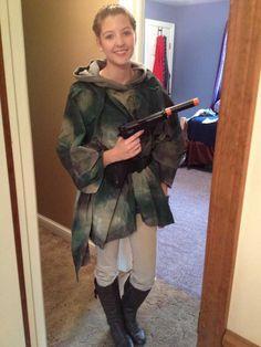 My incredibly inaccurate, half-assed, homemade Princess Leia Endor costume. - Imgur
