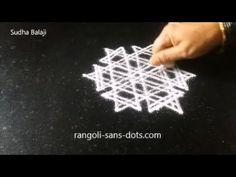 Star rangoli designs for Friday Rangoli Designs With Dots, Kolam Designs, Indian Rangoli, Simple Rangoli, Star Designs, Friday, Stars, Videos, Creative