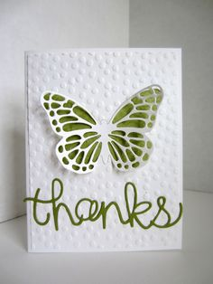 Paper Seedlings: EASY BUTTERFLY CARD