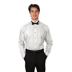 Men White Tuxedo Shirt with Wing Tip Collar #trendy #fashion #formal #beautiful