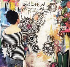 how cool would it be to use a craft room's walls as a life-sized journal whenever i felt inspired..