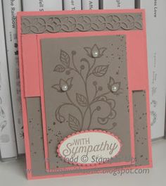 Stampin' Up!- An elegant fun fold card using the awesome stamp set- 'Flourishing Phrases'!