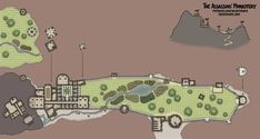 The Assassins' Monastery Fantasy City Map, Fantasy World Map, Cartographers Guild, Village Map, Scale Map, City Layout, Dungeon Maps, Map Design, Dungeons And Dragons
