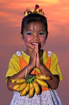 Little girl from Thailand.... This country is so close to my heart because that is where my mom is from❤