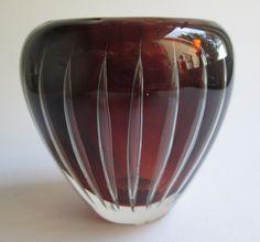 fully signed Ariel vase designed by Kaj Franck for Nuutajärvi Notsjö Finland by SCALDESIGN on Etsy Art Of Glass, Scandinavian Art, Ariel, Finland, Vintage Art, Bubbles, Vase, Ceramics, Metal