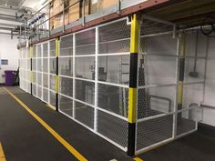 Our Security Enclosures creating a security area within warehouse; fitted recently in Central London. Cage, Warehouse, The Unit, London, Storage, Spring, Larger, London England, Storage Ideas