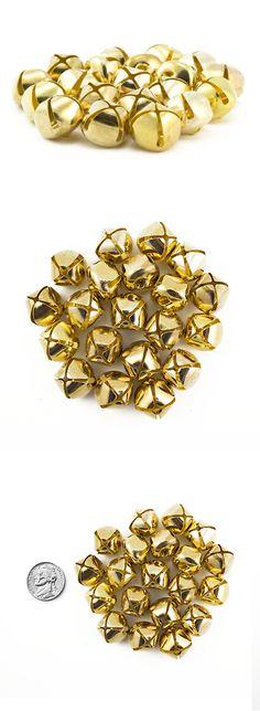 16mm Jingle Bells 5//8 Gold