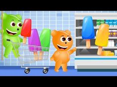 Bad Baby Crying and Learn Colors Colorful Cake Pop Finger Family Songs Collection - YouTube
