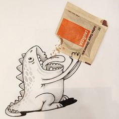 Sugrosorus loves brown sugar =)   Toons in Real World - By: @maniknratan   #toonsinrealworld