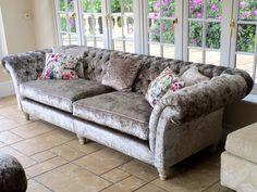 Glamorous Chesterfield Sofa made by Zinc Interiors www.zinc-interiors.co.uk #ChesterfieldSofa #BespokeSofa #HandMadeSofaEssex #HandMadeSofaSuffolk #BespokeFurnitureEssex