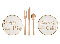 appetizer plates ($4) and rose-gold flatware ($7 for a set of three) #TARGETThresholdCollection
