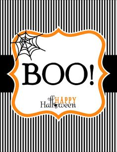 "Anders Ruff Custom Designs, LLC: Free Printable: Happy Halloween ""BOO"" Signs and Enclosure"