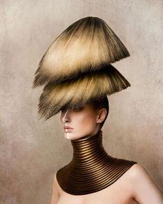 Double header / Double decker Hair by Robert Masciave