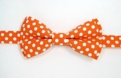Orange polka dot bow tie,Orange bow tie,Halloween bow tie,Wedding bow tie for Men,Toddlers ,Boys,baby