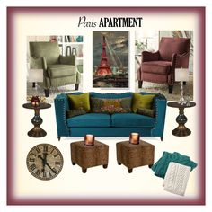 """""""My Paris Apartment"""" by onesweetthing on Polyvore featuring interior, interiors, interior design, home, home decor, interior decorating, Haute House, Skyline, Porsche and Lands' End"""