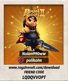 Build your own kingdom and lead your army to victory! https://youtu.be/LbRen7Q5Ja0  Download Royal Revolt 2 on your mobile device: www.royalrevolt.com/download    Start the game and get an EPIC reward by entering this friend code: LQDQVVOPT