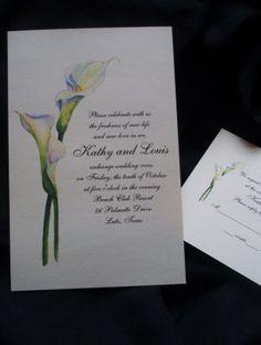 Beautiful Calla Lilies Wedding Invitations /Personalized Set